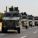 syria, turecko, armáda, konvoj, kolóna, cesta, hranica