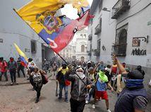 Ekvádor / demonštrácia /