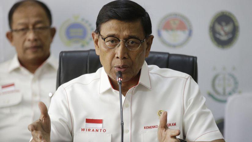 Indonézia minister pre bezpečnosť Wiranto