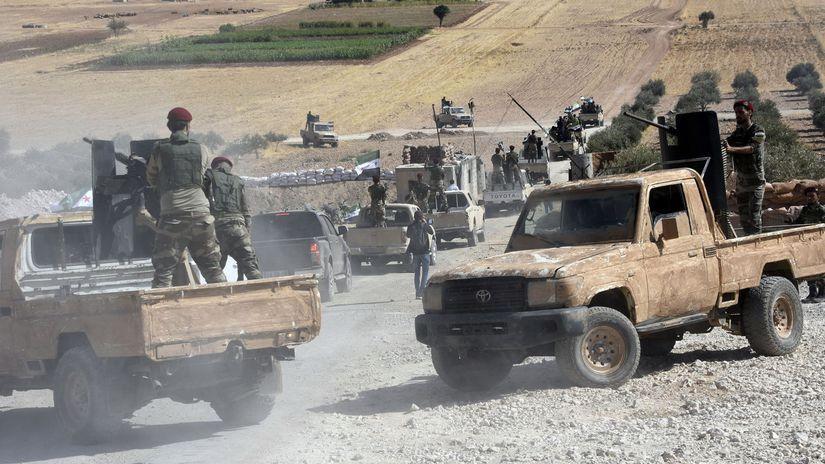 turecko, povstalci, sýria, armáda, vojaci,