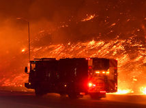 hasiči, los angeles, lesný, požiar, oheň, plameň