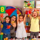 maľovanie, škôlka, škôlkar, dieťa, deti, kolektív