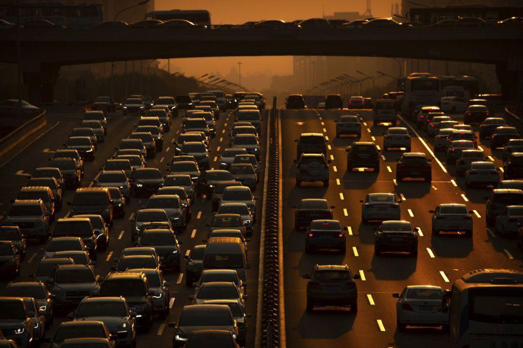 autá, cesta, diaľnica, doprava, Čína, zápcha, znečistenie