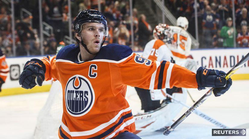APTOPIX Flyers Oilers Hockey Mcdavid