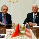 Mike Pence / Recep Tayyip Erdogan / USA / Turecko / Sýria /
