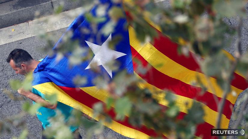 Katalánsko / protest / demonštrácia /