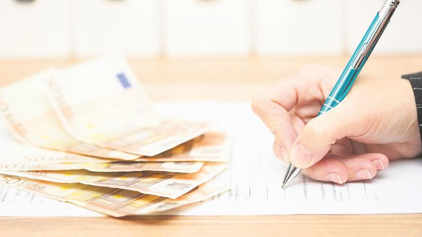 peniaze, ruka, písať