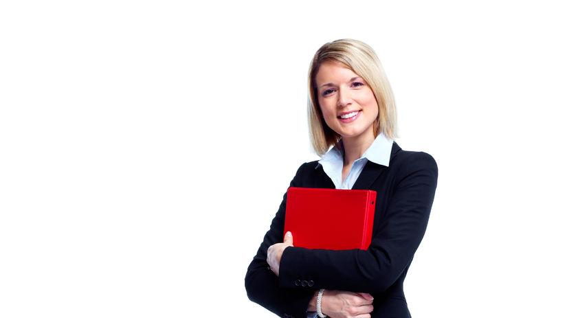zamestnankyňa, úsmev, kariéra