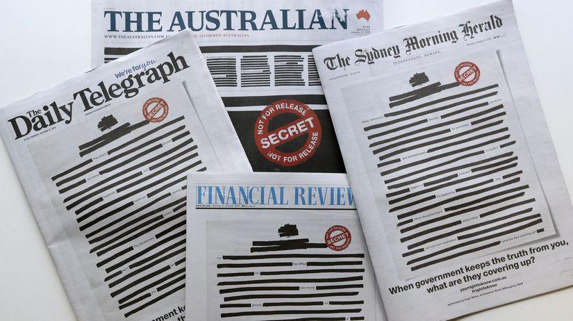 austrália, noviny, cenzúra