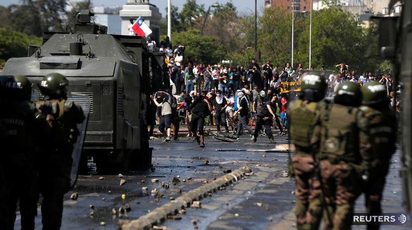 Čile / demonštrácia / protest /