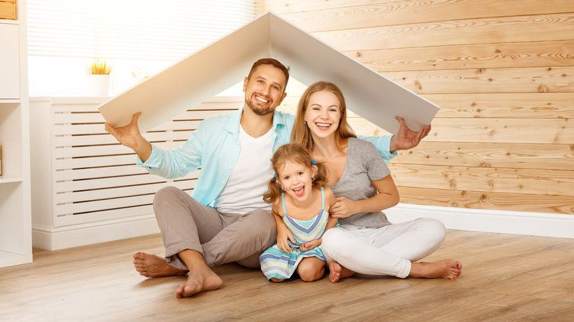 rodina, strecha, dom