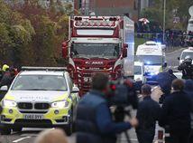 británia anglicko kamión telá migranti Grays weterglade polícia