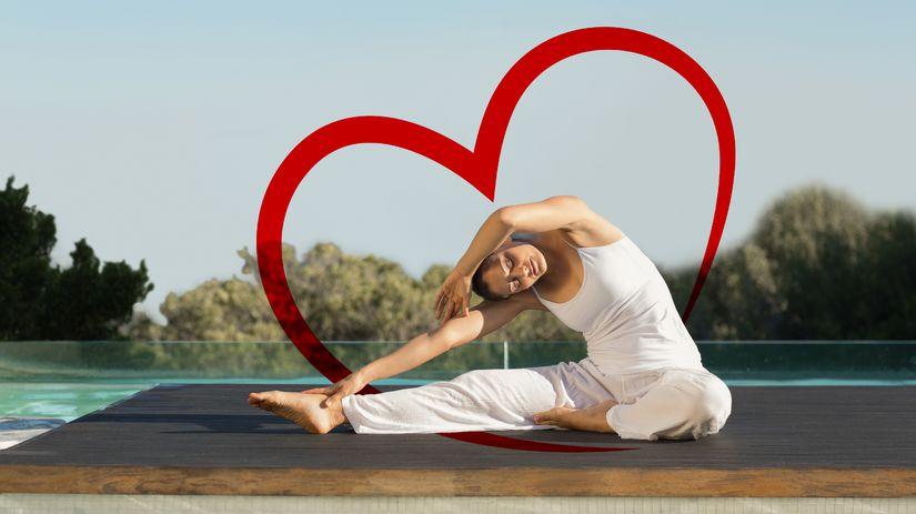 cvičenie, žena, srdce