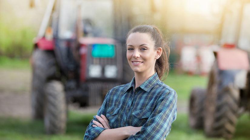 poľnohospodárstvo, žena, traktor