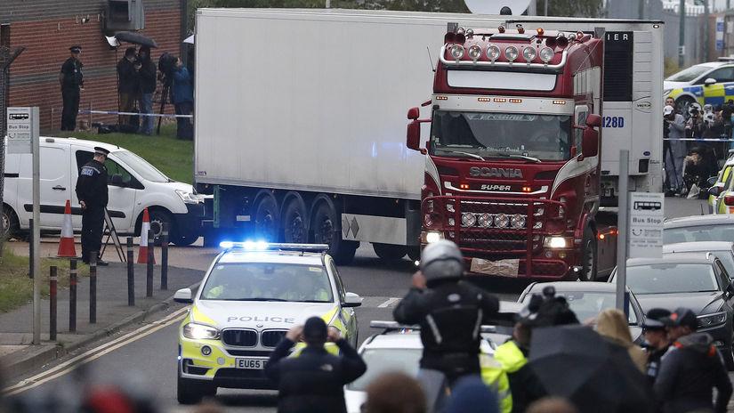 Británia auto nákladné mŕtvi nález
