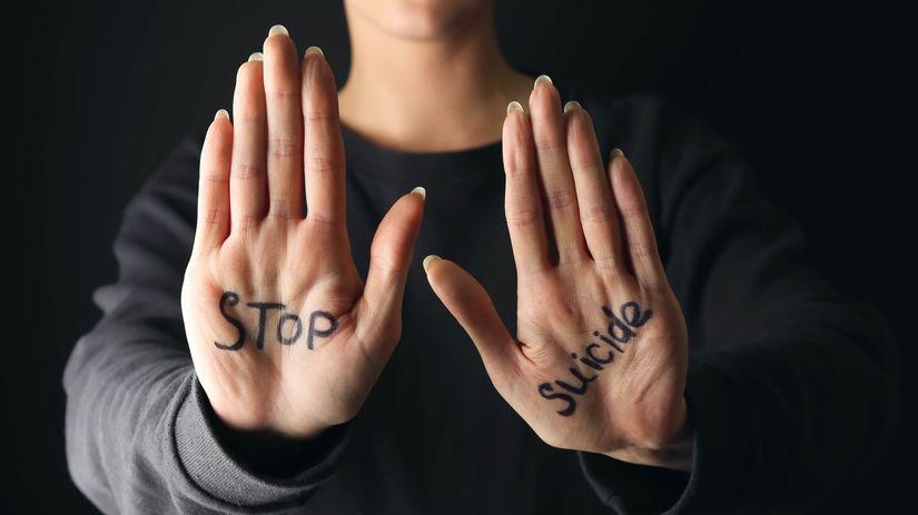 stop samovražda ruky