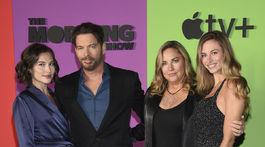 Herec a hudobník Harry Connick Jr. so svojou manželkou Jill Goodacre a dcérami Sarah Kate Connickovou (vľavo) a Georgiou Tatum Connickovou.