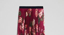 Vzorovaná sukňa s dominantnou vínovou farbou. Predáva Twinset, info o cene v predaji.
