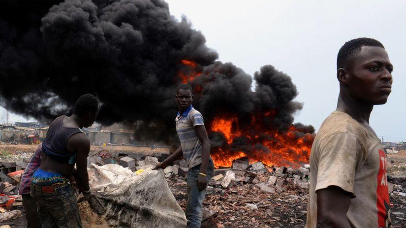 Afrika dym znečistenie odpad