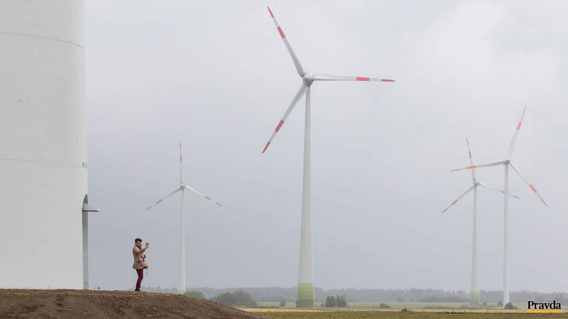 veterné elektrárne vrtule