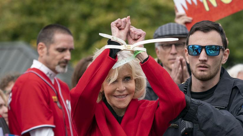 Herečka Jane Fonda počas ďalšieho zo svojich...