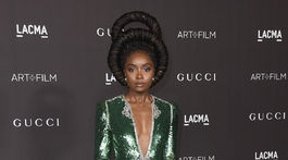 Herečka Kiki Layne na akcii LACMA Art and Film Gala.