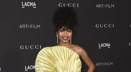 Herečka Yara Shahidi na akcii LACMA Art and Film Gala.