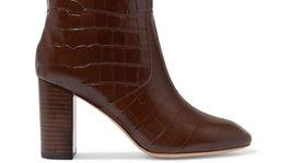 Kožené čižmy s dezénom zvieracej kože Loeffler Randall, predávajú sa za 685 eur na Net-a-porter.com.
