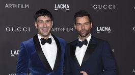 Manželia Ricky Martin (vpravo) a Jwan Yosef prišli na akciu spoločne.