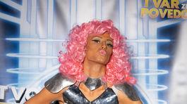 Modelka Saša Gachulincová ako Nicki Minaj v šou Tvoja tvár znie povedome.