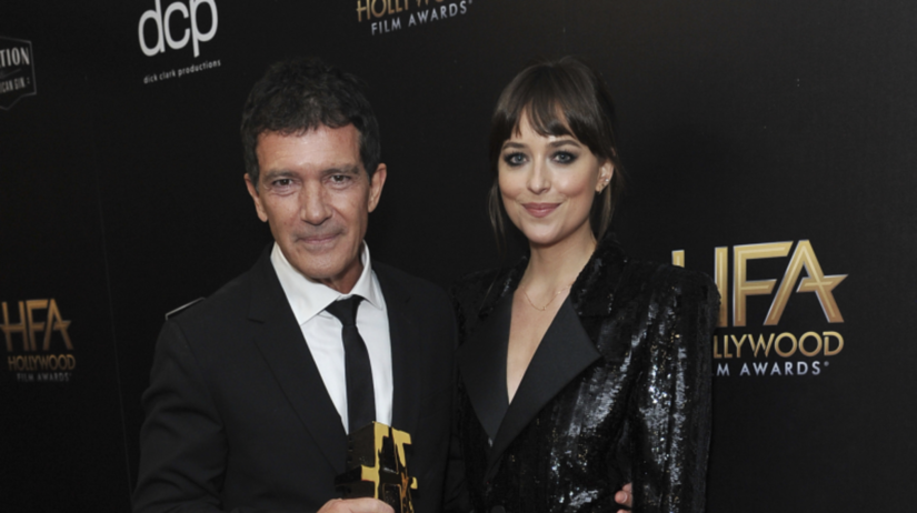 Antonio Banderas a Dakota Johnson