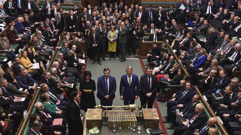 Británia EÚ brexit voľby Johnson parlament...