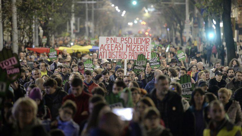 Rumunsko / protest /