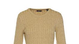 Úpletové šaty s retiazkovým vzorom. Predáva Gant. Info o cene v predaji.