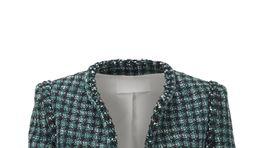 Skrátené elegantné dámske sako Hugo Boss. Predáva sa za 329 eur.
