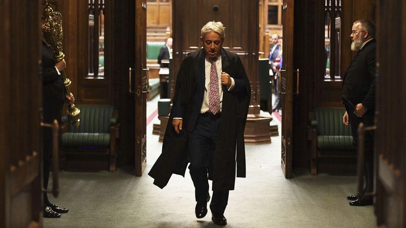Británia EÚ brexit parlament Bercow odchod