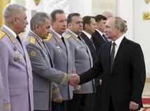 Rusko Moskva Putin armáda dôstojníci prijatie