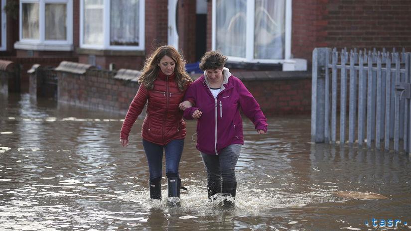 anglicko, záplavy