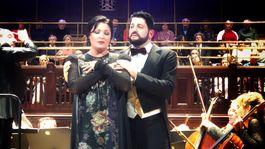 Operná diva Anna Netrebko a jej manžel Yusif Eyvazov na koncerte v Prahe.
