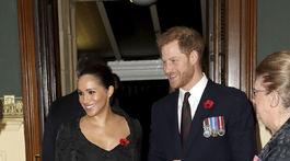 Princ Harry a jeho manželka Meghan, vojvodkyňa zo Sussexu prichádzajú do priestorov Royal Albert Hall v Londýne.