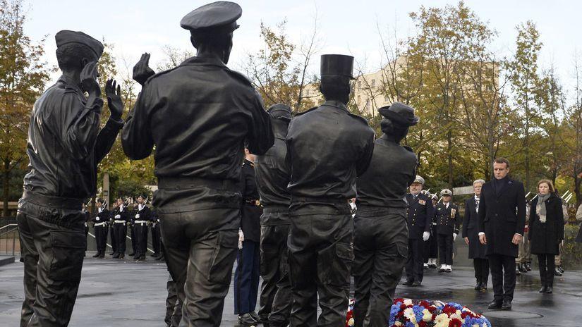 Francúzsko Macron pamätník vojaci zahraničie...