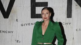 Tenisová hráčka Mária Šarapovová na prehliadke značky Givenchy.