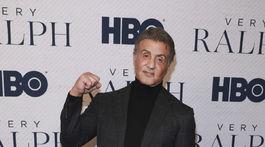 Herec Sylvester Stallone na premiére projektu Very Ralph.