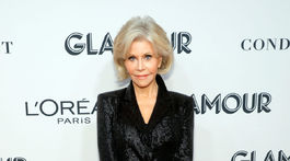 Herečka Jane Fonda na galavečere Glamour Women Of The Year Awards.