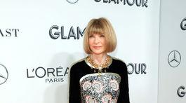Šéfredaktorka magazínu Vogue Anna Wintour prišla v kreácii Chanel.
