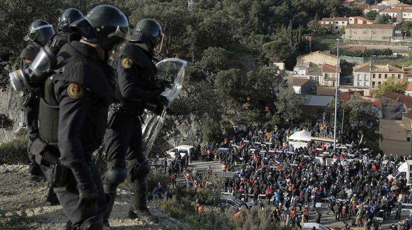 španielsko, katalánsko, francúzsko, polícia,...