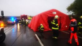 Hasiči Malanta nehoda autobus polícia záchranári hasiči