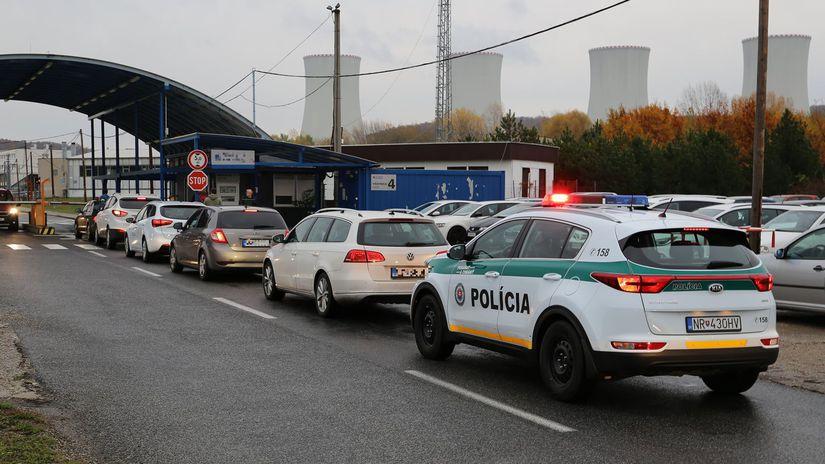 mochovce zásah NAKA polícia