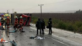 nehoda autobus nákladné auto hasiči malanta