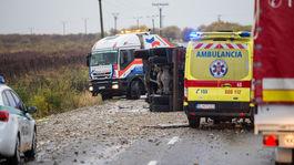 nehoda nákladné auto Malanta záchranári sanitka